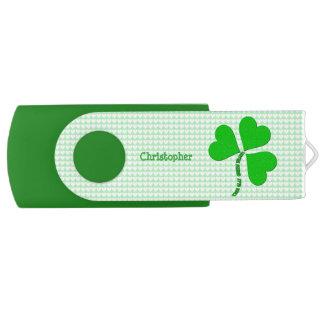 Green Heart St. Patrick Day USB Flash USB Flash Drive