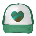 green heart trucker hat