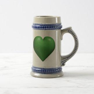 Green Heart - Valentine's - St. Patrick's Day Beer Stein