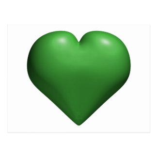 Green Heart - Valentine's - St. Patrick's Day Postcard