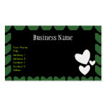 Green Hearts Business/ Profile Card Business Card Templates