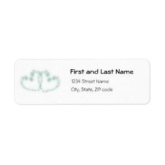 Green Hearts Custom Return Address Labels