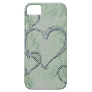 Green Hearts iPhone Case