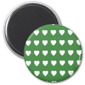 Green Hearts Magnet