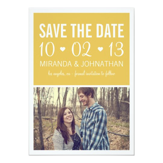 Green Hearts Photo Strip Save The Date Invites