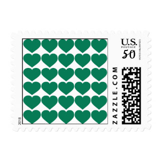 Green Hearts Postage