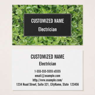 Green Hedge Shrub Type Plant Photograph Business Card