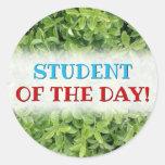 [ Thumbnail: Green Hedge Shrub Type Plant Photograph Round Sticker ]