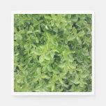 [ Thumbnail: Green Hedge Shrub Type Plant Photograph Napkin ]