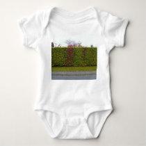 Green hedge texture baby bodysuit
