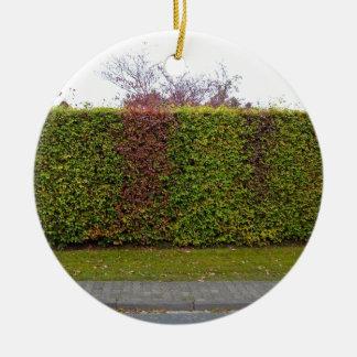 Green hedge texture ceramic ornament