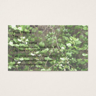 Green Hedge with tiny yellow flowers Business Card