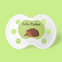 Green Hedgehog Binky Pacifier Binky with name