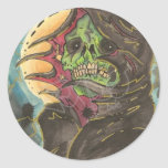 Green Hell Round Stickers