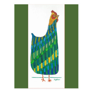 Green Hen CEO Out of the Henhouse Postcard