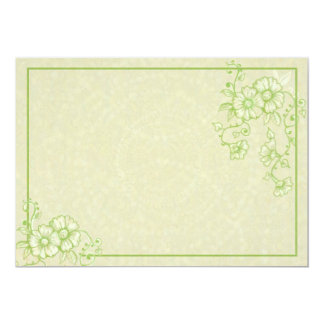 Green Henna Flowers Wedding Invitation