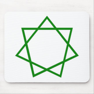 Green Heptagram Mouse Pad