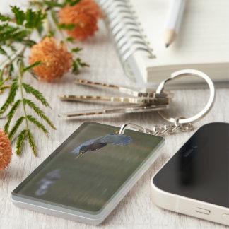green heron & alligator keychain