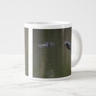 green heron & alligator large coffee mug