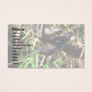 Green Heron Business Card