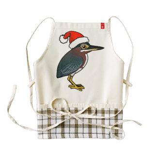 Green Heron Santa Zazzle HEART Apron