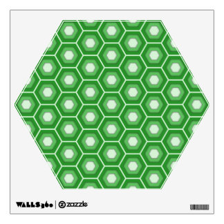 Green Hex Tiled Wall Decal