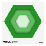 Green Hex Wall Decal