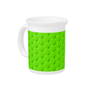 Green hexagon beverage pitcher