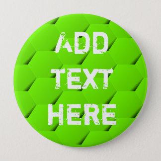 Green hexagon button