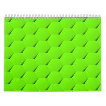 Green hexagon calendar