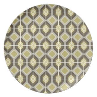 Green hexagonal plate