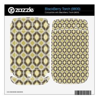 Green hexagonal decals for BlackBerry