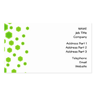 Green Hexagons Pattern. Double-Sided Standard Business Cards (Pack Of 100)