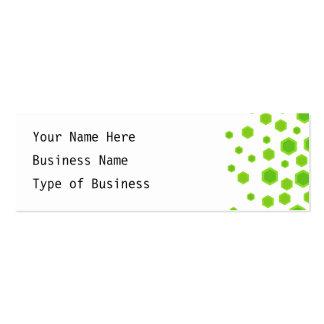 Green Hexagons Pattern. Mini Business Card