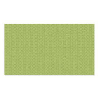 Green Hexagram Pattern Business Card
