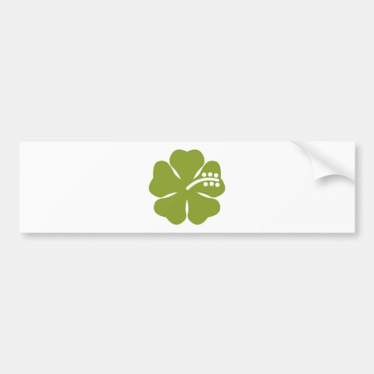 green hibiscus design bumper sticker