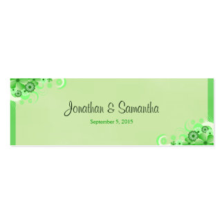 Green Hibiscus Floral Wedding Favor Favour Tags Business Card Template