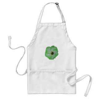 Green hibiscus flower adult apron
