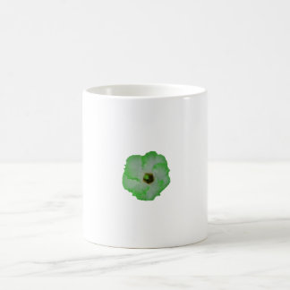 Green hibiscus flower classic white coffee mug