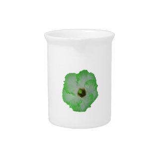 Green hibiscus flower drink pitcher