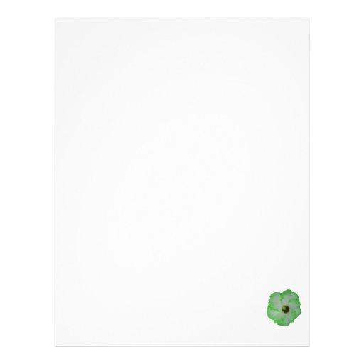 Green hibiscus flower letterhead