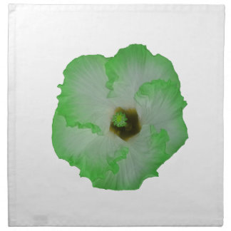 Green hibiscus flower napkin