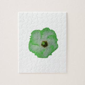 Green hibiscus flower puzzle