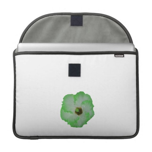 Green hibiscus flower sleeves for MacBook pro