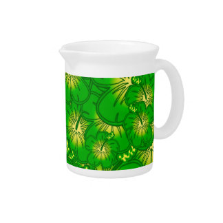 Green hibiscus pitcher