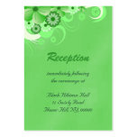 Green Hibiscus Wedding Reception Enclosure Cards Business Card Templates
