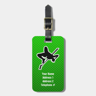 Green High Jump Tag For Luggage