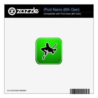 Green High Jump iPod Nano Skins