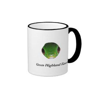 Green Highland Racer Ringer Coffee Mug