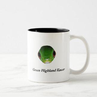 Green Highland Racer Two-Tone Coffee Mug
